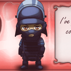 Official Valentine's Day art of Montagne