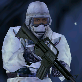 ---Arctic Medium Suit--- <br />This uniform is provides a good blend of protection and ease of movement. An excellent uniform choice for recon specialists operating in arctic environments, it consists of a Level II waist-length tactical vest, a Kevlar Helmet, sub-zero parka, soft-soled rubber boots, Nomex balaclava,and Nomex/Kevlar gloves. The vest reliably stops most pistol and submachine gun rounds.