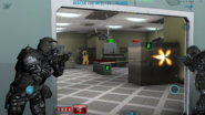 Firefight in biological warfare laboratory