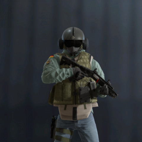 Jäger armed with an <a href=