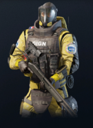Lion armed with SG-CQB