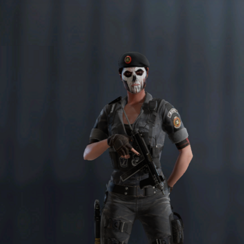 Caveira armed with M12 (Pre-Blood Orchid)