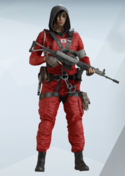 Hibana Red Jumpsuit Uniform
