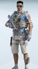 Lesion Blue Hibiscus Uniform