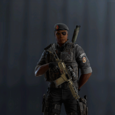 Capitão armed with PARA-308 (Pre-Blood Orchid)