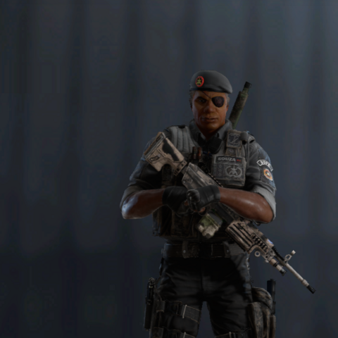 Capitão armed with M249 (Pre-Blood Orchid)