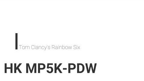 Rainbow Six- HK MP5K-PDW