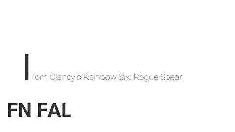 Rainbow Six- Rogue Spear FN FAL