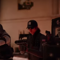 Blackbeard on the far left as seen in the The Laws of Siege - Unique Operators trailer