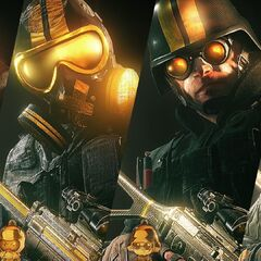 Ash Mute Thermite and Bandit showing thier Gold pro league headgear