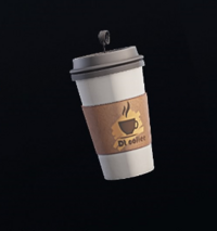 Papercup Coffee Charm