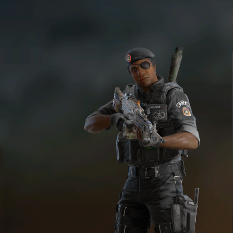 Capitão armed with M249 (Post-Blood Orchid)