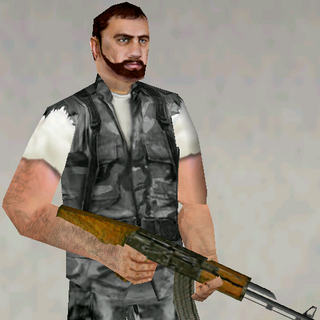 Terrorist armed with AK47
