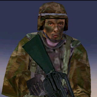 ---Woodland Medium Suit--- <br />This uniform is provides a good blend of protection and ease of movement. An excellent uniform choice for recon specialists operating in mixed forest environments, it consists of a Level II waist-length tactical vest, a Kevlar Helmet, soft-soled rubber boots, and Nomex/Kevlar gloves. The vest reliably stops most pistol and submachine gun rounds.