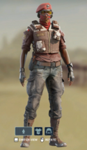 E Burgundy And Chaps Uniform