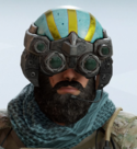 Blackbeard Peacock Spider Headgear