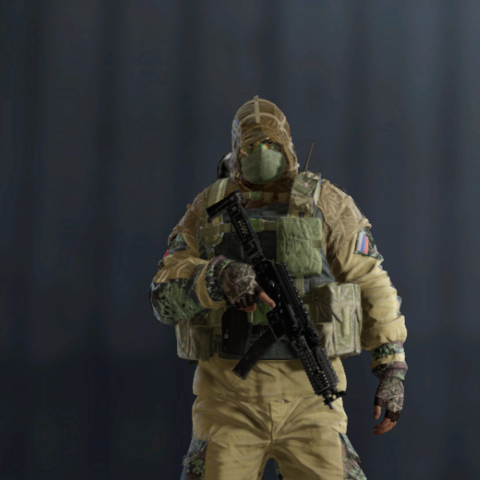 Kapkan armed with <a href=