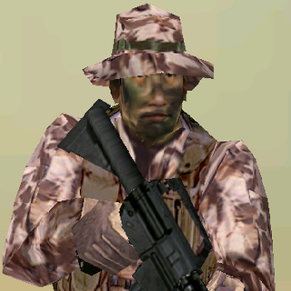 ---Desert Light Suit--- <br />This streamlined uniform sacrifices protection for ease of movement. An excellent uniform choice for recon specialists operating in desert environments, it consists of a lightweight Level IIa waist-length tactical vest, soft-soled rubber boots, and Nomex/Kevlar gloves. The vest reliably stops low-powered pistol rounds.