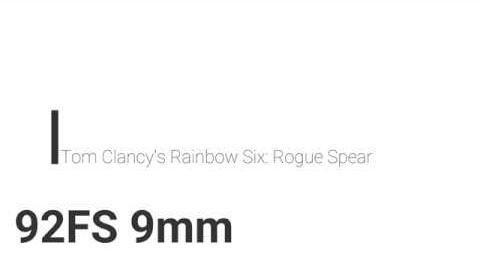 Rainbow Six- Rogue Spear 92FS 9mm