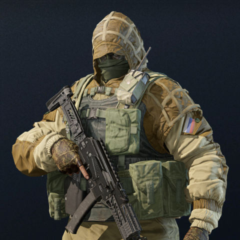Kapkan armed with a <a href=