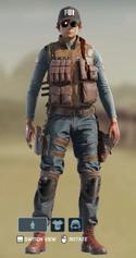 R Rough Denim Uniform