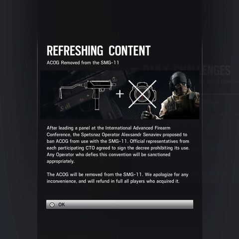 Removal of the SMG-11's ACOG access