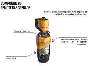 Smoke gas grenade