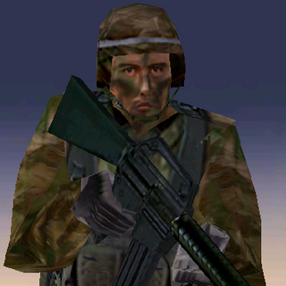 ---Woodland Heavy Suit--- <br />This bulky uniform sacrifices ease of movement for increased protection. An excellent uniform choice for demolitions specialists operating in mixed forest environments, it consists of Level III body armor extending to the groin, a Kevlar Helmet, soft-soiled rubber boots, and Nomex/Kevlar gloves. The vest reliably stops all but most high-powered rifle rounds.