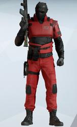Vigil Red Jumpsuit Uniform
