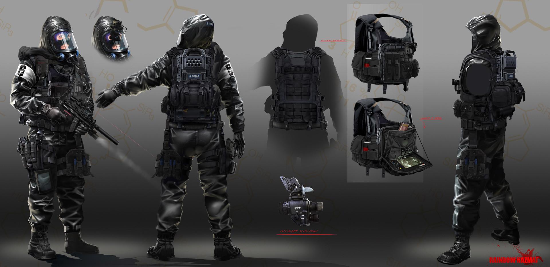 Soldier Video Games Rainbowsix Siege Digital Art Dark: Image - Hazmat Concept Design.jpg