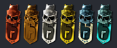 Skull Rain Ranked Charms