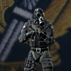 Smoke's armed with an FMG-9