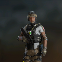 Lesion armed with T-5 SMG (Post-Blood Orchid)