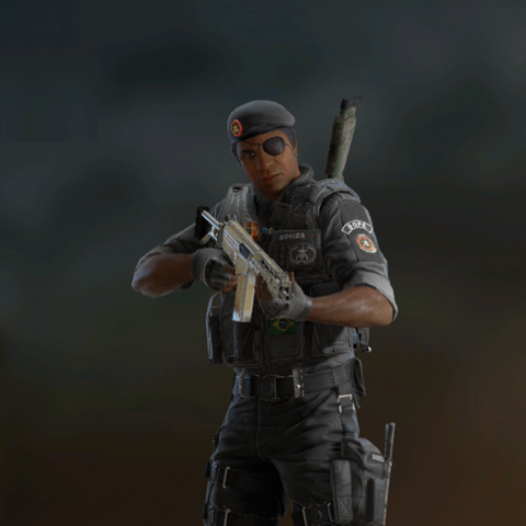 Capitão armed with PARA-308 (Post-Blood Orchid)