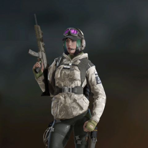 Ela armed with Scorpion EVO 3 A1 (Post-Blood Orchid)
