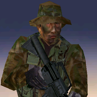 ---Woodland Light Suit--- <br />This streamlined uniform sacrifices protection for ease of movement. An excellent uniform choice for recon specialists operating in mixed forest environments, it consists of a lightweight Level IIa waist-length tactical vest, soft-soled rubber boots, and Nomex/Kevlar gloves. The vest reliably stops low-powered pistol rounds.