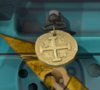 Gold Doubloon. Charm