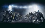 Rainbow six siege Defender v attacker poster