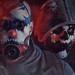 Castle Sledge Rook and Glaz showcasing  clown inspired headgear