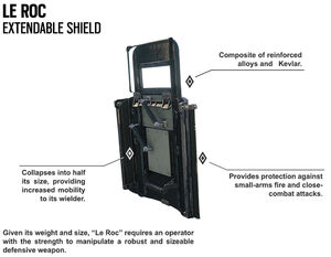 Montagne extendable shield