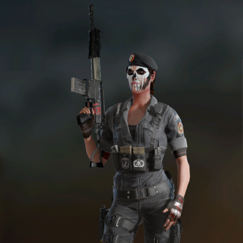 Caveira armed with SPAS-15 (Post-Blood Orchid)