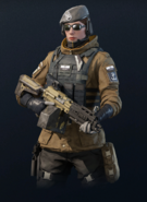 R6 Zofia armed with LMG-E