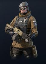 R6 Zofia armed with LMG-E
