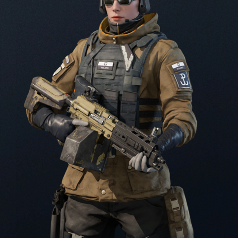 Zofia armed with <a href=