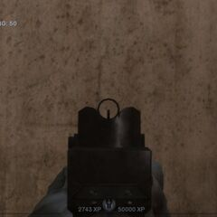 Iron sights of the 552 Commando