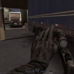 Empty reloading the MP5N equipped with an ACOG sight