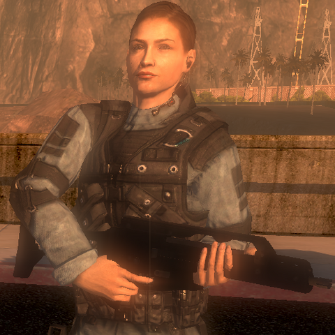 Joanna Torres armed with G36