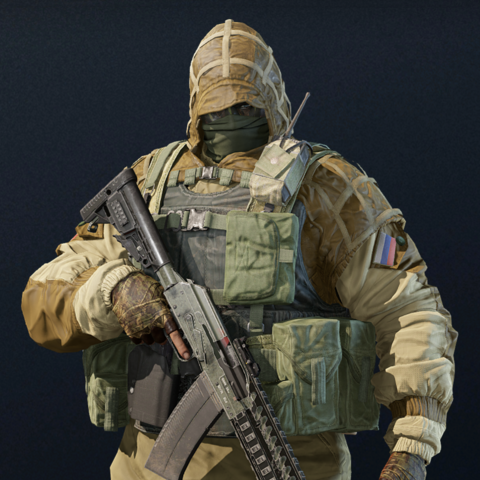 Kapkan armed with an <a href=