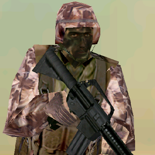 ---Desert Heavy Suit--- <br />This bulky uniform sacrifices ease of movement for increased protection. An excellent uniform choice for demolitions specialists operating in desert environments, it consists of Level III body armor extending to the groin, a Kevlar Helmet, soft-soiled rubber boots, and Nomex/Kevlar gloves. The vest reliably stops all but most high-powered rifle rounds.