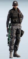 Ash Digital Sapphire Uniform